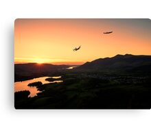 Lancasters Flying Over Keswick Canvas Print