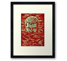 I am sinking here Framed Print