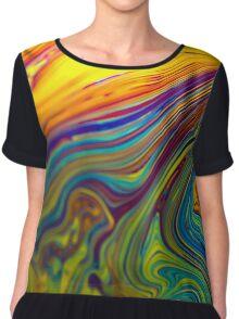 psyche fun art colorful Chiffon Top