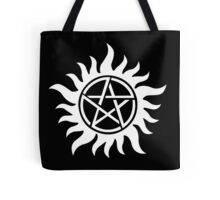 Anti-Possession Tattoo Symbol White Version - Supernatural Inspired Tote Bag