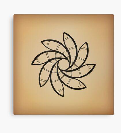 Mandala #219 || Tan Canvas Print