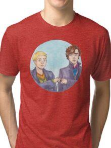 Sherlock Fist Bump Tri-blend T-Shirt