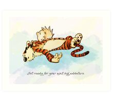 Calvin and Hobbes Resting Art Print