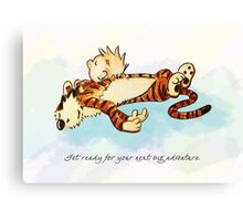 Calvin and Hobbes Resting Canvas Print