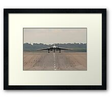 Vulcan landing at RAF Waddington Framed Print