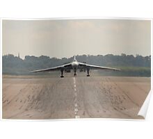 Vulcan landing at RAF Waddington Poster