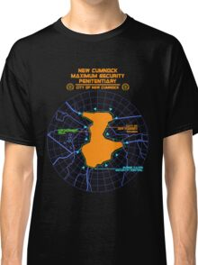 Escape From New Cumnock Penitentiary Map Classic T-Shirt