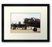 The last two flying Lancasters at RAF Waddington Framed Print