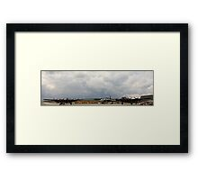 The last two flying Lancasters and Vulcan at RAF Waddington Framed Print