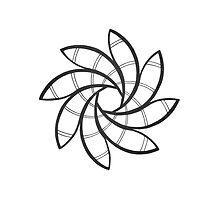 Mandala #219 || Mono by RedBookJournals