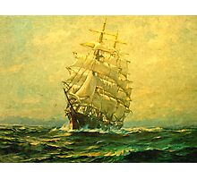 Sailing ship crosses the Atlantic Photographic Print