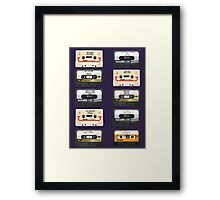 Vintage tapes Framed Print