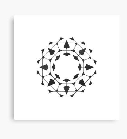 Mandala #220 || Mono Canvas Print