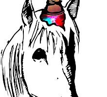 Who cares Hipster Unicorn by emalakaite
