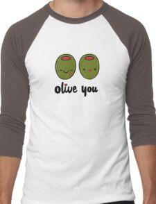Olive You  Men's Baseball ¾ T-Shirt
