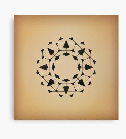 Mandala #220 || Tan Canvas Print