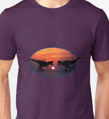 Tyrannosaurus - Sunset Showdown Unisex T-Shirt