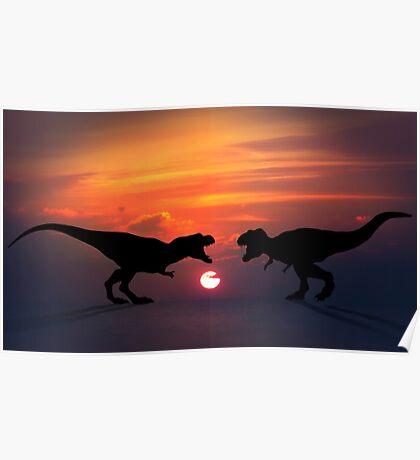 Tyrannosaurus - Sunset Showdown Poster