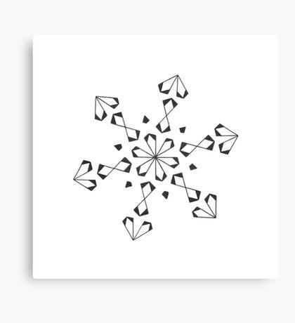 Mandala #221 || Mono Canvas Print