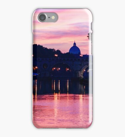 Impressions of Rome - Tiber River Silky Current in Pink and Purple iPhone Case/Skin