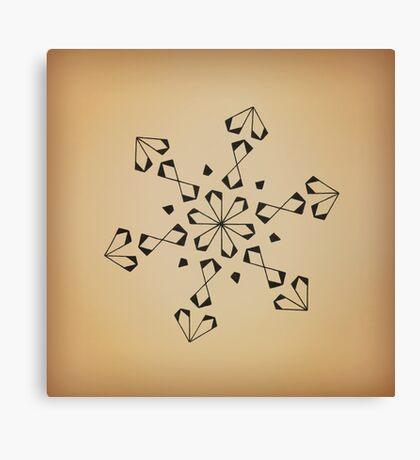 Mandala #221 || Tan Canvas Print