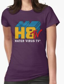 H8 TV Logo. Womens Fitted T-Shirt