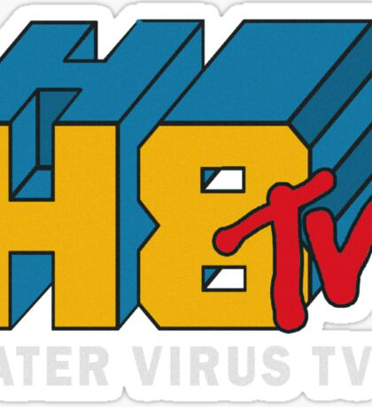 H8 TV Logo. Sticker