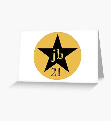 JB 21st Logo  Greeting Card