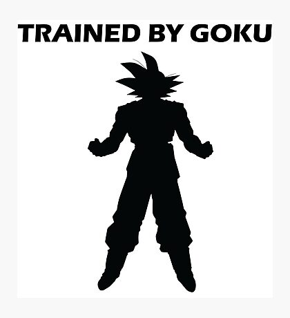 Trained by Goku Photographic Print