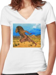 Born Free Women's Fitted V-Neck T-Shirt