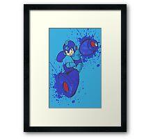 Mega Man Joins The Battle Framed Print