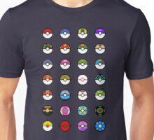 Pokeballs Pixel Art Unisex T-Shirt
