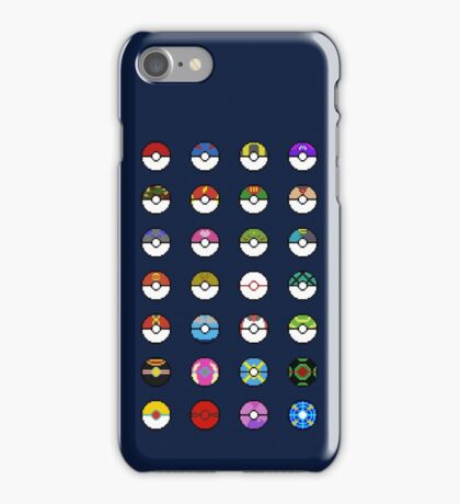 Pokeballs Pixel Art iPhone Case/Skin