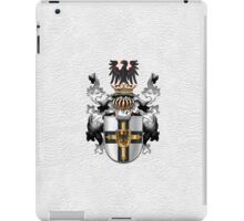 Teutonic Order - Coat of Arms over White Leather iPad Case/Skin