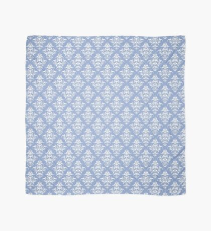 Damask Pattern | Serenity and White | Pantone Color of the Year 2016 Scarf