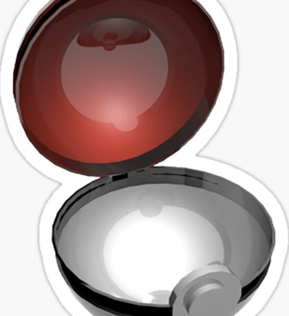 3D Empty Pokeball Sticker