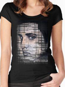 Elvis Presley original  ink painting Women's Fitted Scoop T-Shirt