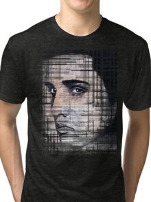 Elvis Presley original  ink painting Tri-blend T-Shirt