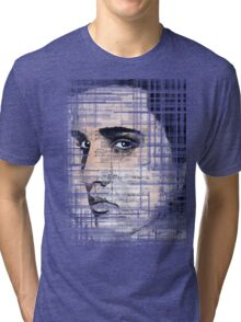 Elvis Presley original  ink painting Tri-blend T-Shirt