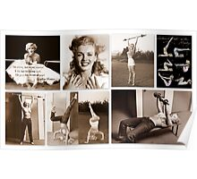 Working out with Marilyn Poster