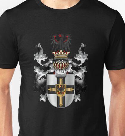 Teutonic Order - Coat of Arms over Black Velvet Unisex T-Shirt