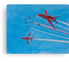 Red Arrows Over Cromer Canvas Print