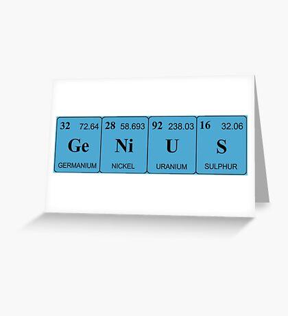 Elemental Genius - Dark Lettering Greeting Card
