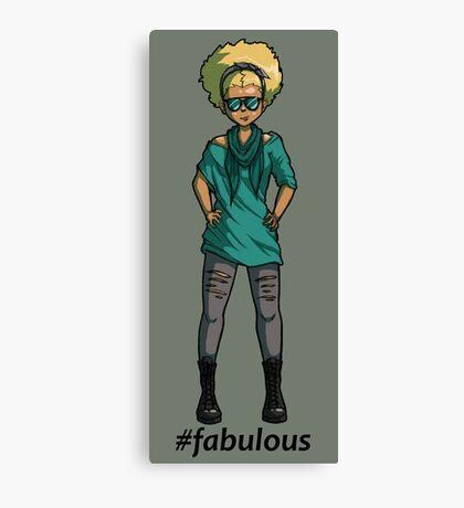 #fabulous Canvas Print