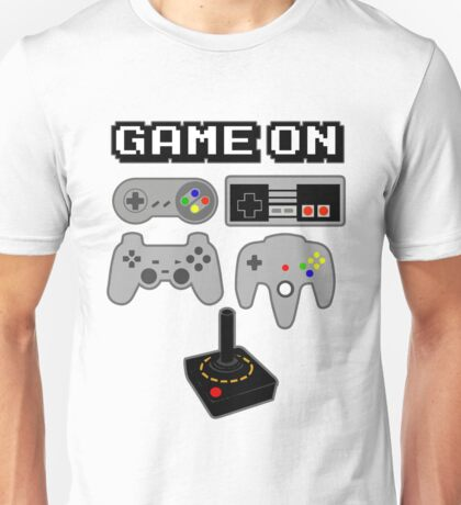 Game On Retro Video Game Controller Poster Unisex T-Shirt