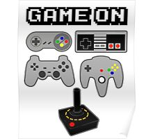 Game On Retro Video Game Controller Poster Poster