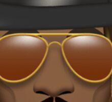 Future Emoji wearing Hat and Sunglasses Sticker