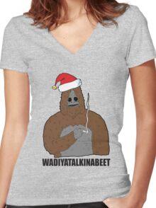 wadiyatalkinabee sassy Women's Fitted V-Neck T-Shirt
