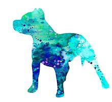 Pit Bull  by Watercolorsart