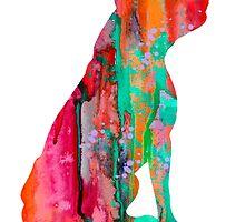 Pit Bull 2 by Watercolorsart